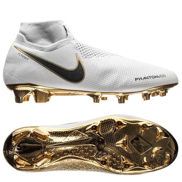Nike Phantom Vision Gold Elite △ DF FG WhiteBlack