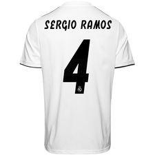 real madrid hjemmebanetrøje 2018/19 sergio ramos 4 børn - fodboldtrøjer