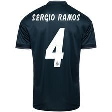 real madrid udebanetrøje 2018/19 sergio ramos 4 børn - fodboldtrøjer