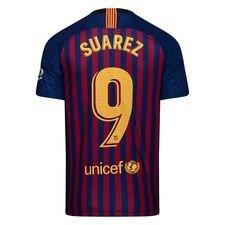 barcelona hjemmebanetrøje 2018/19 suárez 9 børn - fodboldtrøjer