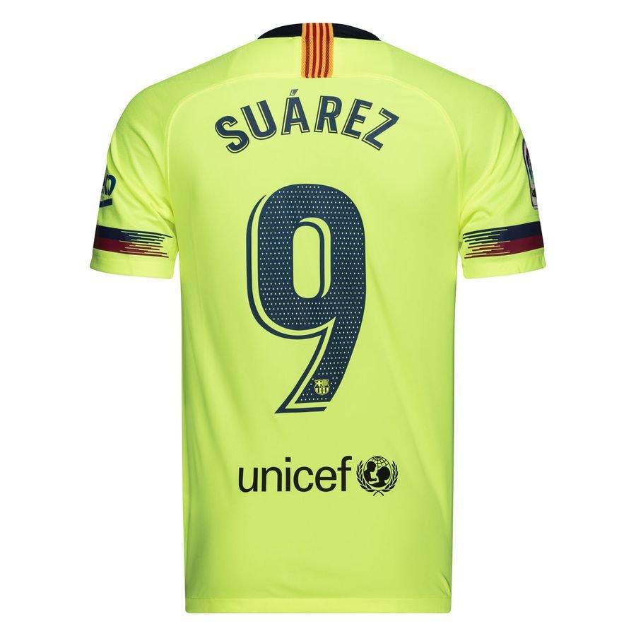 barcelona away shirt 2018 19 suárez 9 kids - football shirts ... 381bac6c0