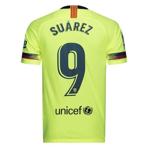 d11c94563 70.00 EUR. Price is incl. 19% VAT. Barcelona Away Shirt 2018 19 SUÁREZ 9  Kids