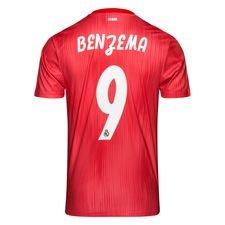 real madrid 3. trøje 2018/19 parley benzema 9 børn - fodboldtrøjer