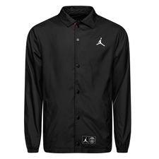 Nike Veste Entraîneur Jordan x PSG - Noir/Blanc ÉDITION LIMITÉE