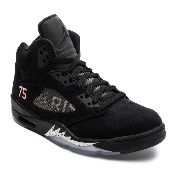 the best attitude 96423 dea76 Air Jordan 5 Retro Jordan x PSG - Black/Challenge Red/White LIMITED EDITION