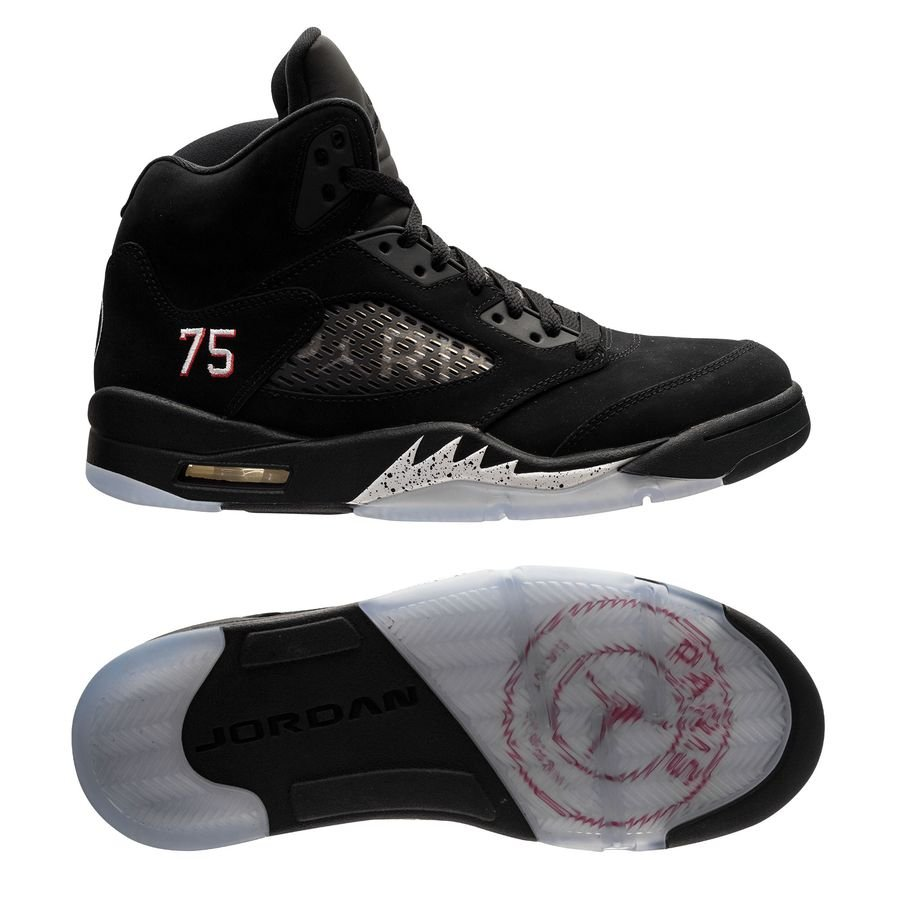 the best attitude 182cf 11c36 Air Jordan 5 Retro Jordan x PSG - Black/Challenge Red/White LIMITED EDITION