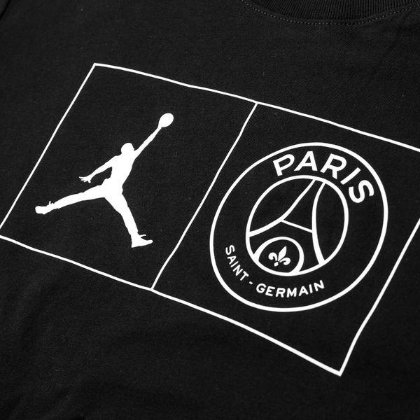 6d14f55b3277fb Nike T-Shirt Jock Tag Jordan x PSG - Noir Blanc ÉDITION LIMITÉE ...
