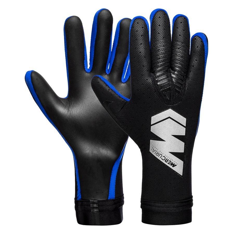 3e55ee165cfed Nike Goalkeeper Gloves Mercurial Touch Elite Promo Always Forward -  Black Metallic Silver Racer Blue