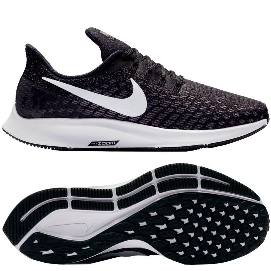 online retailer 3ae90 e5010 nike juoksukengät air zoom pegasus 35 - musta valkoinen harmaa nainen -  juoksukengät ...