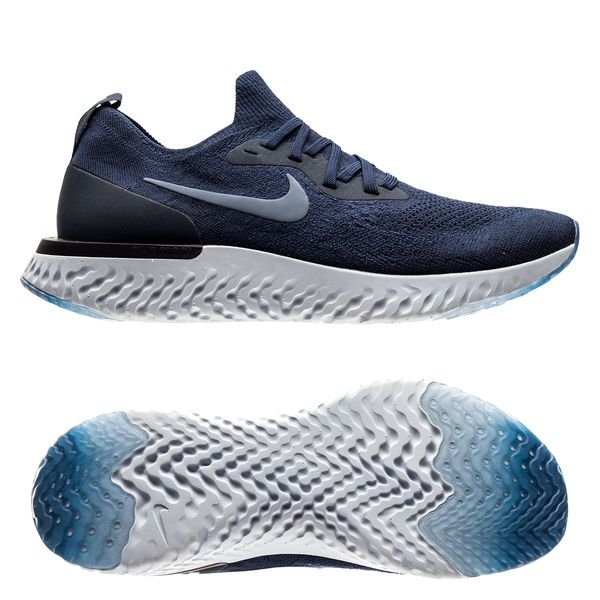 598793282c5a9 Nike Running Shoe Epic React Flyknit - College Navy Grey