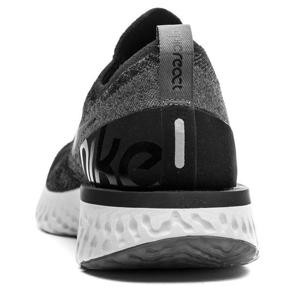 uk availability 73082 00333 Nike Juoksukengät Epic React Flyknit - Musta Harmaa Harmaa Nainen 2