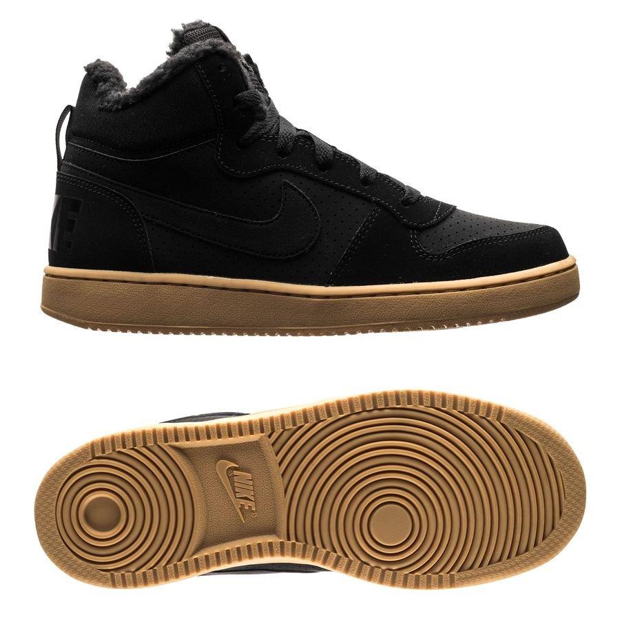 Nike Court Borough Mid Hiver - Noir/Marron Enfant
