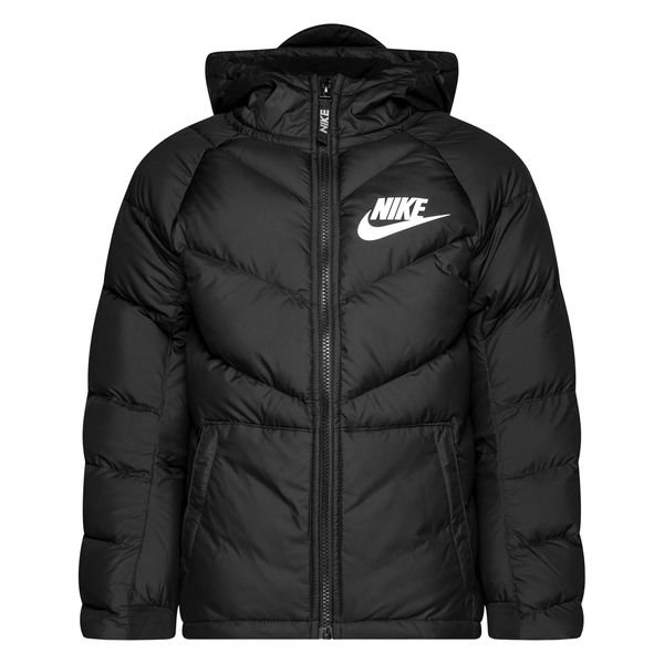 Nike NSW Manteau d'Hiver Parka NoirBlanc Enfant