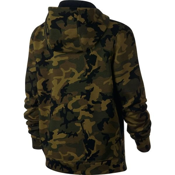 465940f4601c ... nike hoodie nsw fleece aop - grün schwarz weiß kinder - hoodies