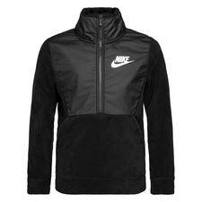 nike jakke nsw winterized 1/2 zip - sort/grå børn - træningsjakke
