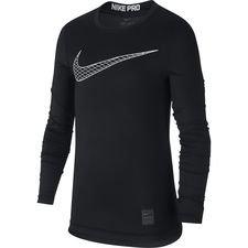 Nike Pro er dit ultimative våben, når det handler om at optimere din præstation. Baselayer trøjen er lavet med Nikes velkendte Dri-FIT materiale, som leder s