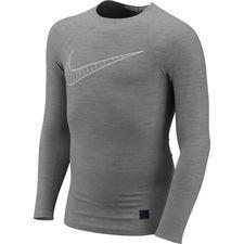 Image of   Nike Pro Compression L/Æ - Grå/Hvid Børn