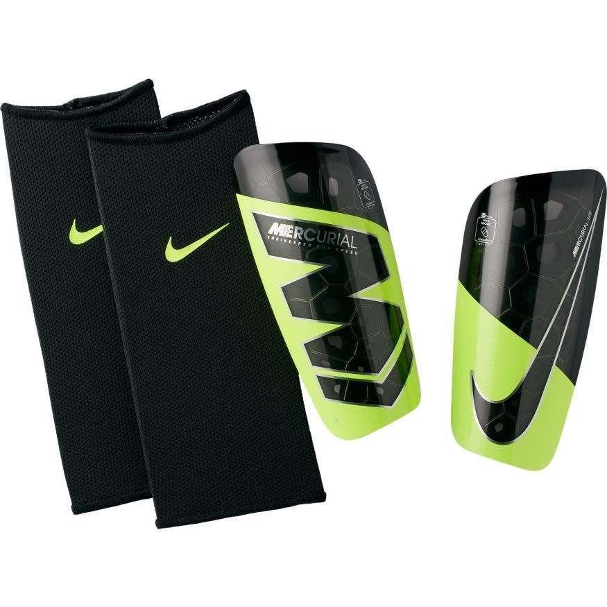 Nike Protège-Tibias Mercurial Lite Always Forward - Jaune Fluo/Noir