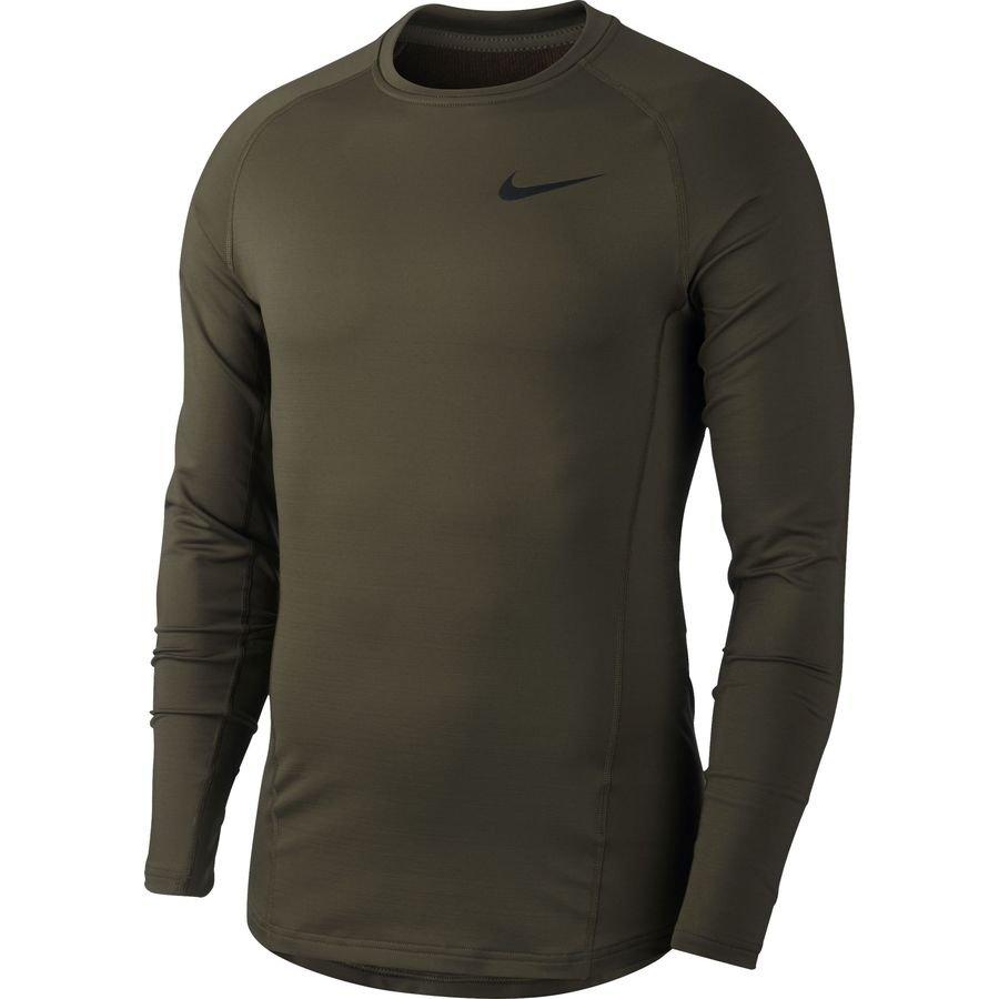 Nike Pro Therma Warm Compression Manches Longues - Gris/Noir