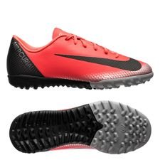 Nike Mercurial VaporX 12 Academy TF CR7 Chapter 7: Built On Dreams - Röd/Svart Barn