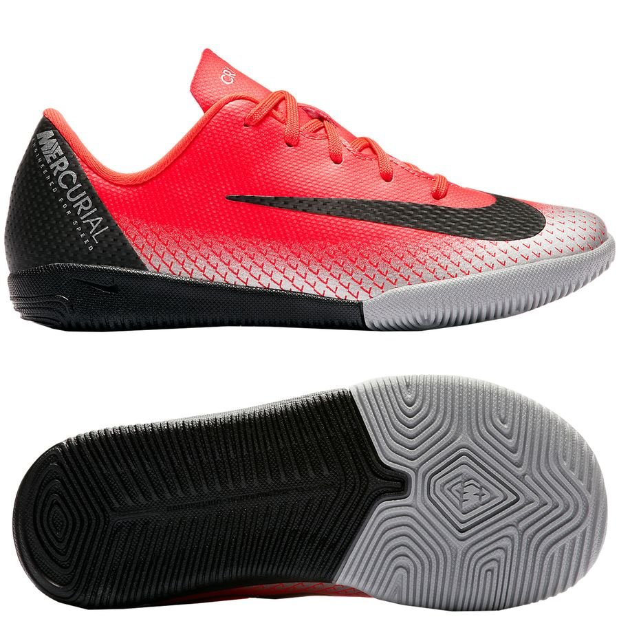 Nike Mercurial VaporX 12 Academy IC CR7 Chapter 7: Built On Dreams - Rouge/Noir Enfant