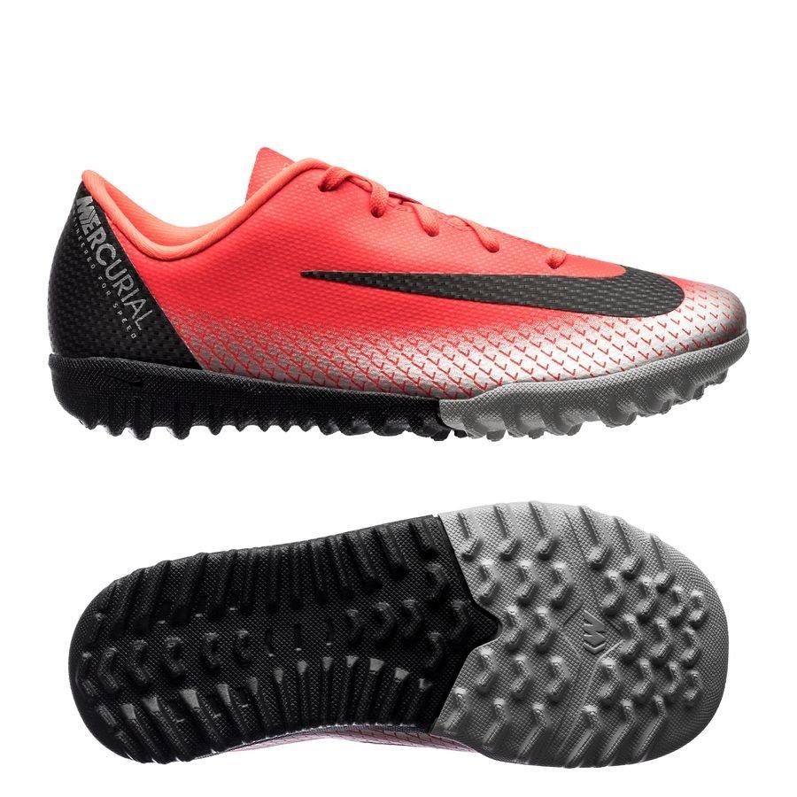 Nike Mercurial VaporX 12 Academy TF CR7 Chapter 7: Built On Dreams - Rouge/Noir Enfant