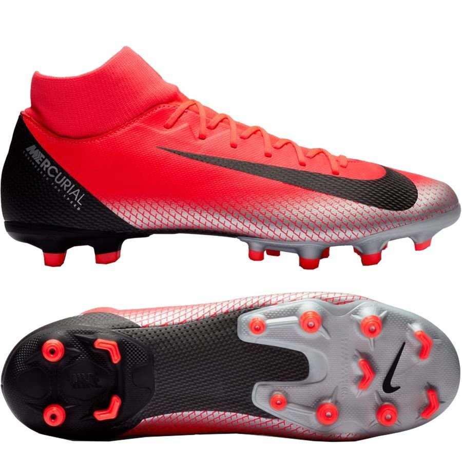 Nike Mercurial Superfly 6 Academy MG - CR7 Rød/Sort