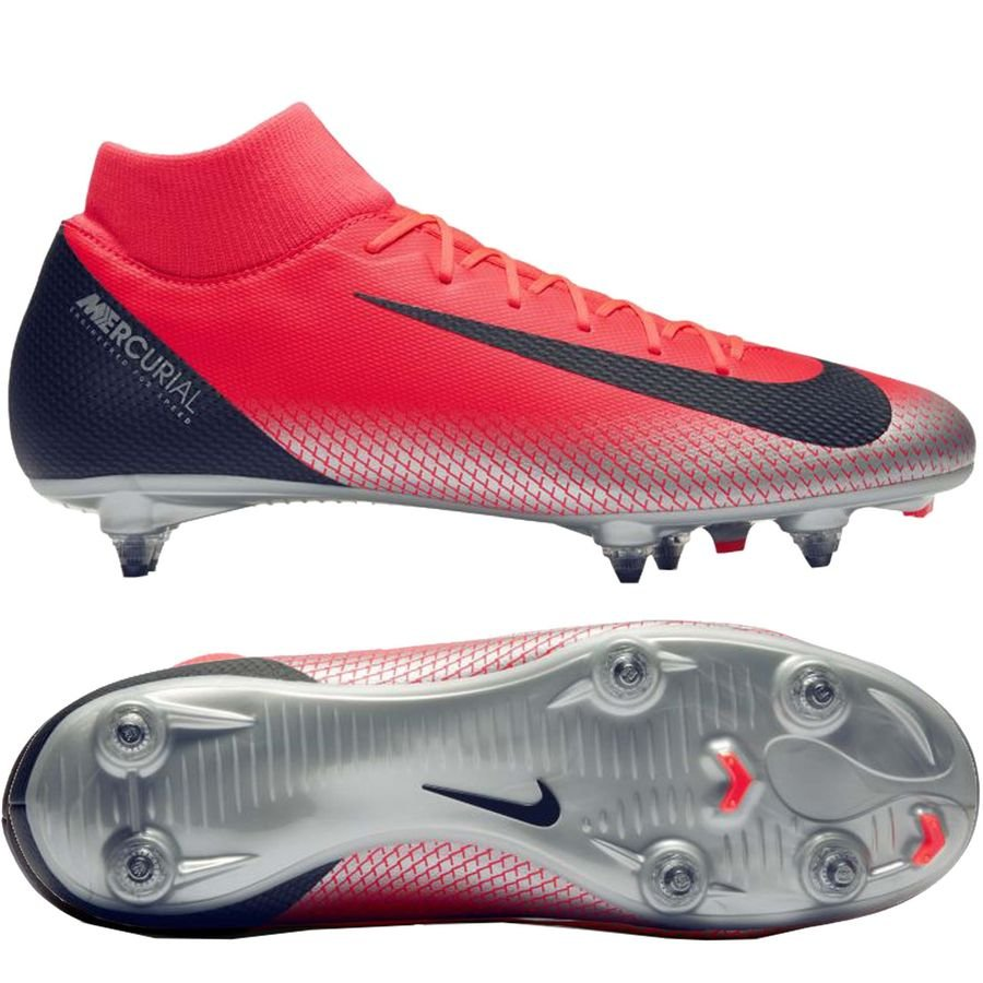 Nike Mercurial Superfly 6 Academy SG-PRO - CR7 Rød/Sort