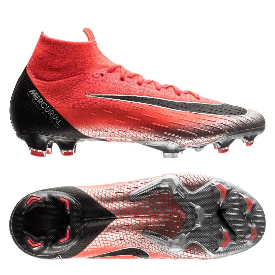 Nike Mercurial Superfly 6 Elite FG - CR7 Rød/Sort