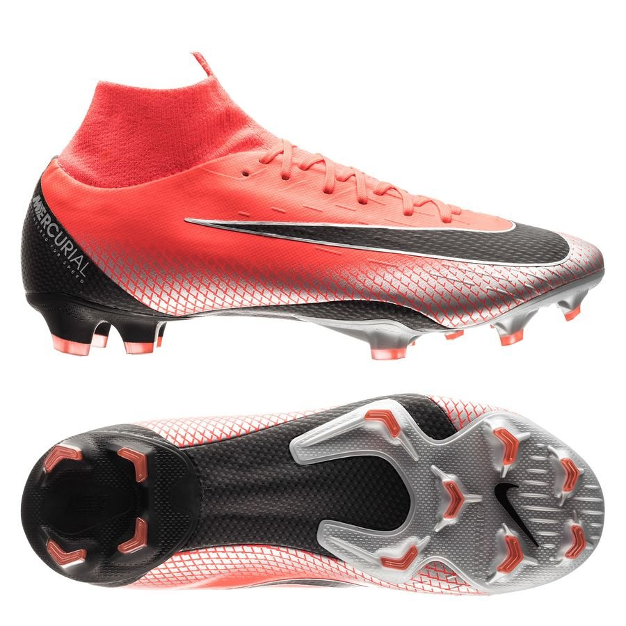 Nike Mercurial Superfly 6 Pro FG - CR7 Rød/Sort