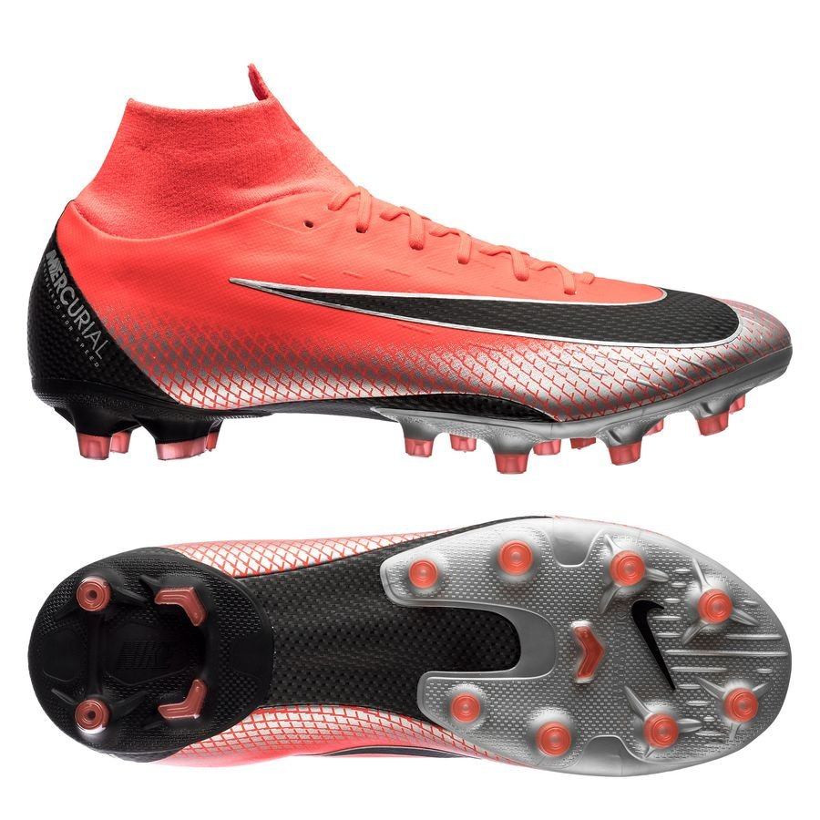 Nike Mercurial Superfly 6 Pro AG-PRO CR7 - Rød/Sort