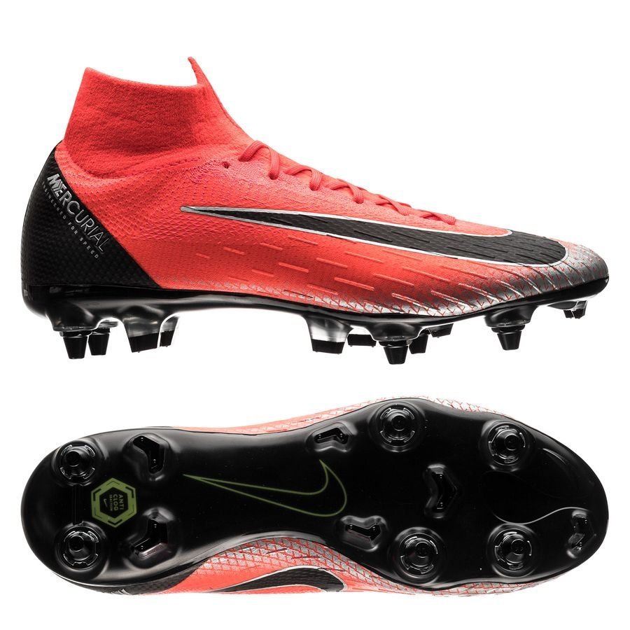 Nike Mercurial Superfly 6 Elite SG-PRO - CR7 Rød/Sort