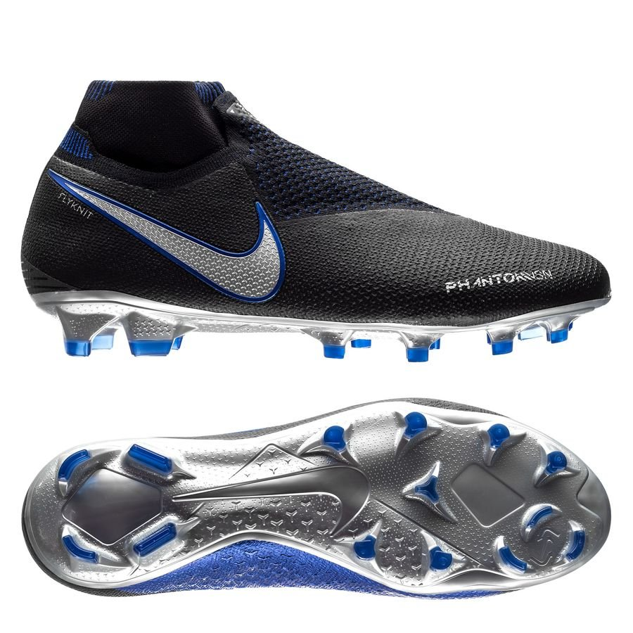 Nike Phantom Vision Elite DF FG - Sort/Sølv/Blå