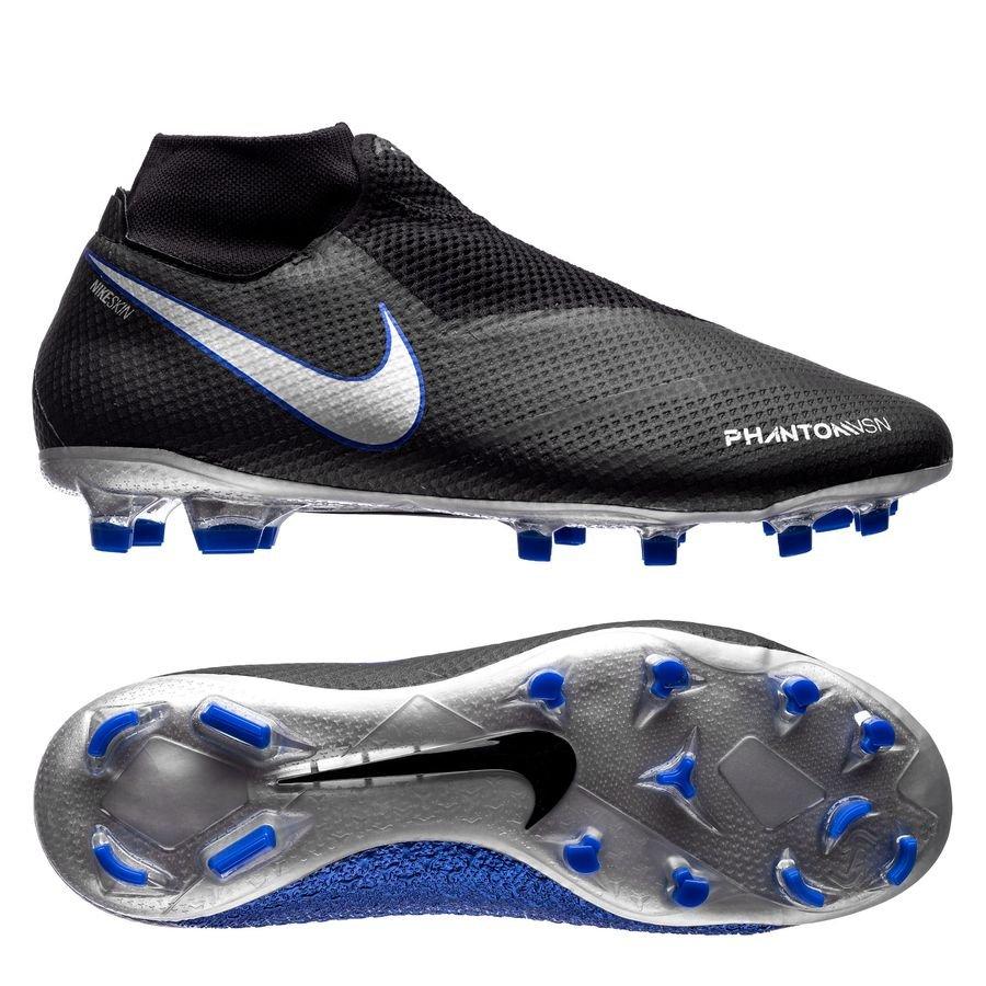 Nike Phantom Vision Pro DF FG - Sort/Sølv/Blå