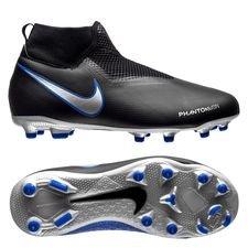 nike phantom vision academy df mg always forward - sort/sølv/blå børn - fodboldstøvler