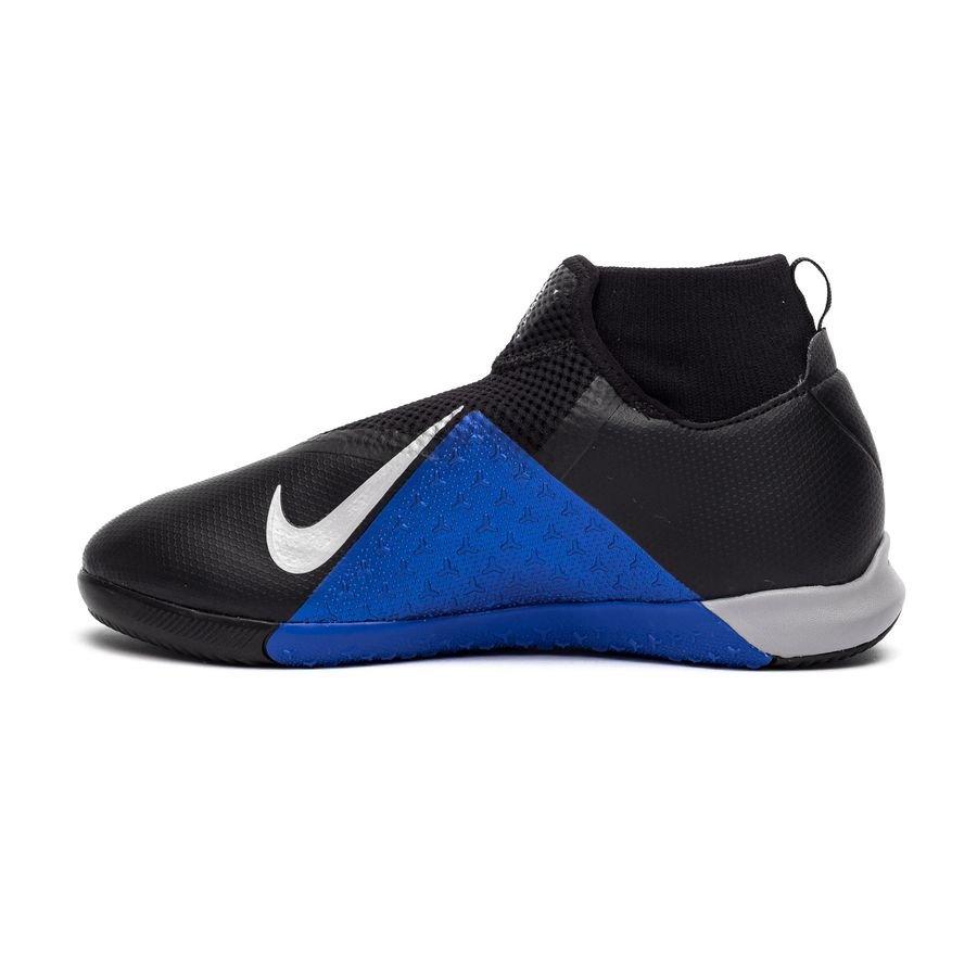 f4f57b89aeb Nike Phantom Vision Academy DF IC Always Forward - Black Metallic Silver Racer  Blue Kids