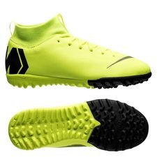 Nike Mercurial Superfly 6 Academy TF Always Forward - Neon/Svart Barn