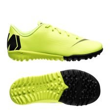 Nike Mercurial VaporX 12 Academy TF Always Forward - Neon/Svart Barn
