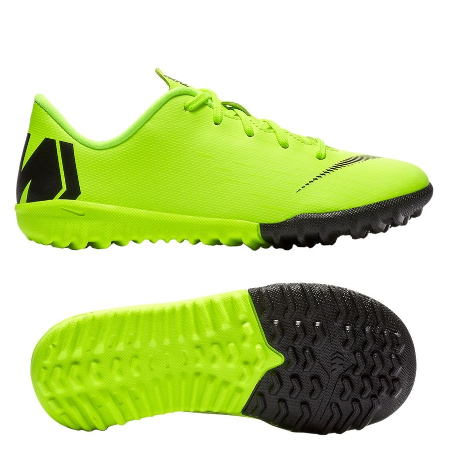 Nike Mercurial VaporX 12 Academy TF Always Forward - Jaune Fluo/Noir Enfant PRÉ-COMMANDE
