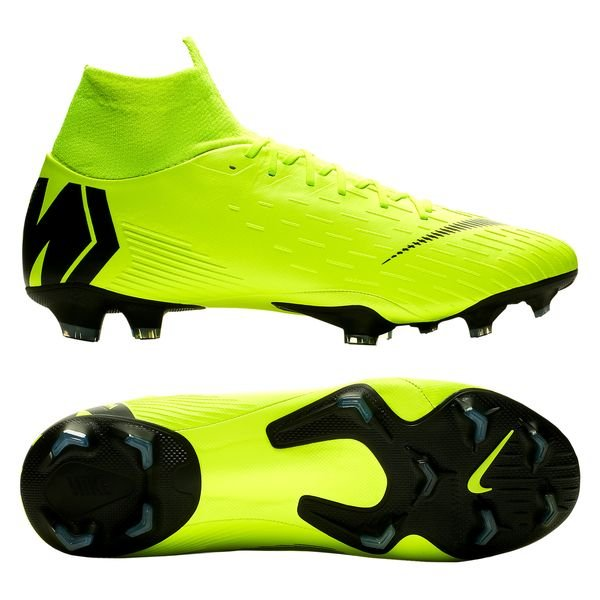 Nike Mercurial Superfly 6 Pro FG - Neon/Sort