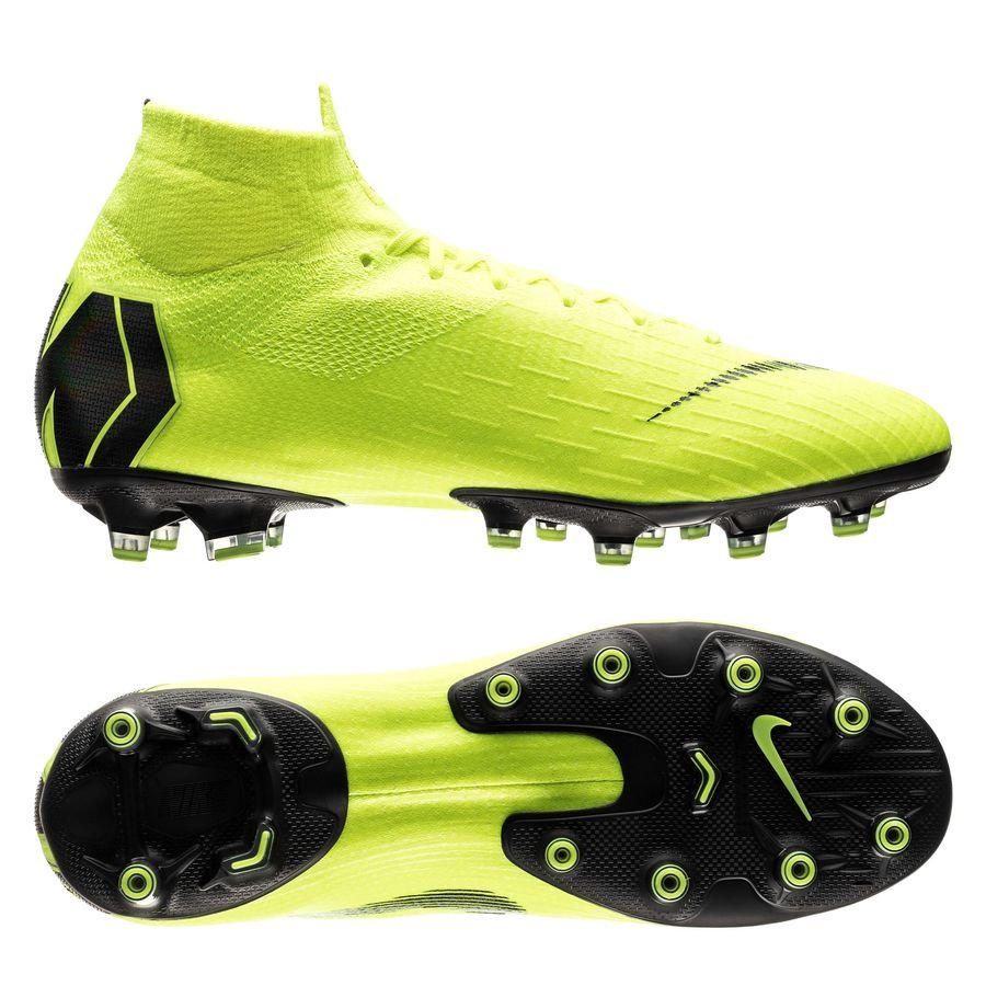 Nike Mercurial Superfly 6 Elite AG-PRO - Neon/Sort