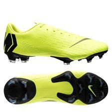 nike mercurial vapor 12 pro fg always forward - neon/sort - fodboldstøvler