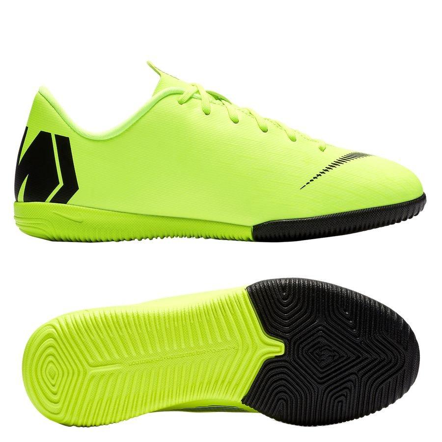 Nike Mercurial VaporX 12 Academy IC Always Forward - Jaune Fluo/Noir Enfant