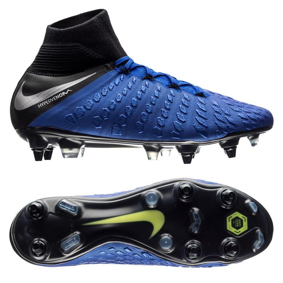 Nike Hypervenom 3 Elite DF SG-PRO - Blå/Sort