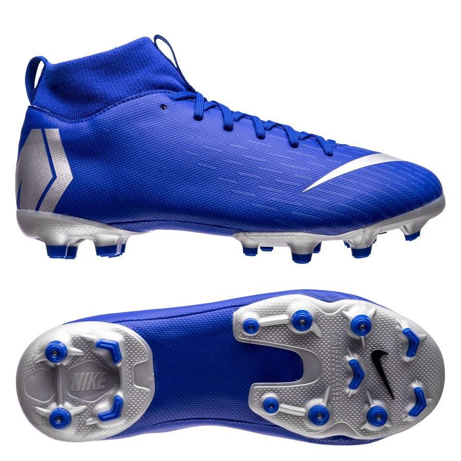 nike mercurial superfly 6 academy mg always forward - blå silver barn -  fotbollsskor ... 8a794f51cb4f1