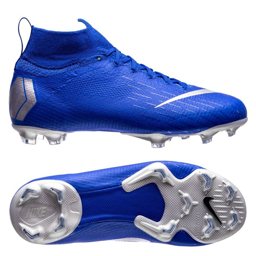 nike mercurial superfly 6 elite fg always forward - racer blue metallic  silver kids ... 1cf32bbfe