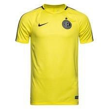 inter trænings t-shirt dry squad gx - gul/blå - træningstrøjer