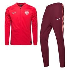 Barcelona Trainingspak Dry Squad Knit - Roze/Bordeauxrood Kinderen