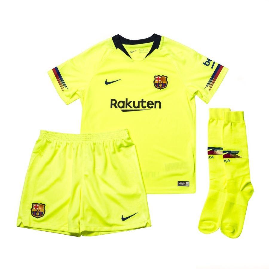 feee65b88a5d barcelona away shirt 2018 19 mini-kit kids - football shirts ...