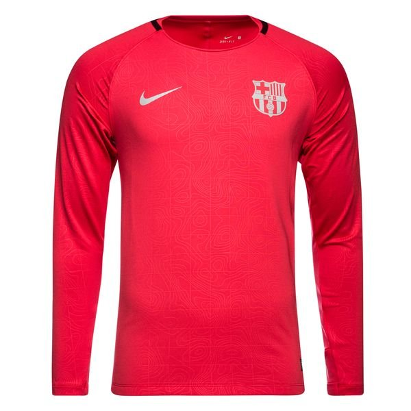 save off 4224d 33d86 Barcelona Training T-Shirt Dry Squad GX - Tropical Pink/Deep Maroon L/S